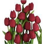 10Pc Flores de Tulipanes Artificiales Flores Falsas Festival de Tulipanes Holandeses Decoración Ramo Tulipán Real Touch Ramo de Boda Nupcial para el Hogar Jardín Fiesta Decoración Floral(C,10PC)