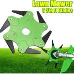 65 mm 6 dientes al aire libre cortadora de césped cuchillas cortadora de césped cortadora de césped cabezal de la máquina (verde)