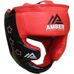 Amber Fight Gear Boxhandschuhe Boxing Headgear - Casco de Boxeo, Color Negro, Talla S