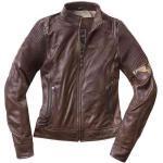 Black-Cafe London Amol Chaqueta de cuero de la motocicleta de las s... Marrón S