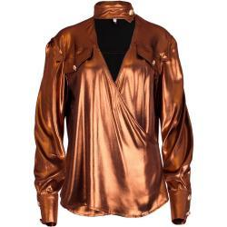 Blusa con efecto metalizado