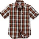 Camisas marrones manga corta Carhartt para hombre