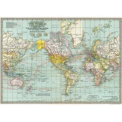 Cavallini Decorative Paper - World Map #3 20x28 Sheet by Cavallini Papers & Co.