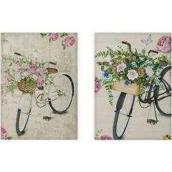 Cuadro de bicicleta en lienzo blanco de 70x50 cm. Compra mínima 2 unid