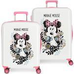 Disney Minnie Style Juego de Maletas Multicolor 55/68 cms Rígida ABS Cierre combinación 119.4L 4 Ruedas Dobles Equipaje de Mano