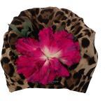 Dolce & Gabbana, Floral-motif turban Marrón, Mujer, Talla: One size