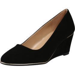 Calzado de vestir negro con tacón de cuña de punta redonda Dorothy Perkins para mujer