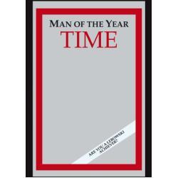 Empire Merchandising 538086 Man of The Year Time - Espejo con decoración y Marco imitación Madera (20 x 30 cm)