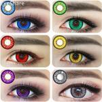 EYESHARE-2 unids/par ojos ampliadores, lentillas de contacto de colores para Halloween y Cosplay