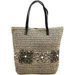 Faylinn > Bolso Paja Tejido de Hombro de mujer | Bolso de Playa con Estilo - Laura Medidas 42 x 37 x 3 cm