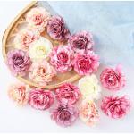 Flores artificiales de seda, cabeza de rosa, decoración de boda para el hogar, ramo de novia,