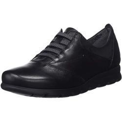 Fluchos | Zapato de Mujer | Susan F0354 Sugar Negro Zapato | Zapato de Piel de Vacuno de Primera Calidad | Cierre con Elásticos | Piso EVA
