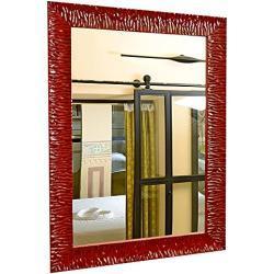 GaviaStore Espejo de Pared Moderno - Julie - 70x50 cm - Muebles para el hogar Arte decoración Sala de Estar Salon Modern Dormitorio baño Cocina Entrada Wall (Rojo)