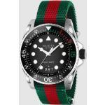 Gucci - Reloj De Hombre Dive YA136209 De Nylon Verde Y Rojo