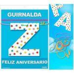 Guirnalda feliz aniversario (cartulina 220gr)