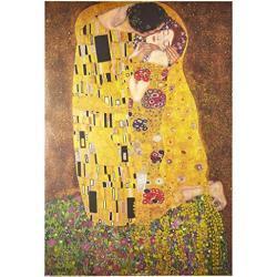 Gustav Klimt Póster de El Beso, Cartón, Multicolor, 61 x 91,5 cm