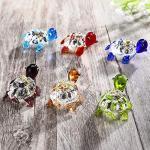 HDCRYSTALGIFTS Adornos de cristal soplados a mano con forma de tortuga pequeña hecha a mano para decoración de jardín