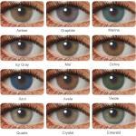 HIDROCOR-lentillas de colores, 1 par de lentillas de contacto naturales para ojos, marrón, verde y