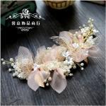 Hilo de seda coreano para novia, tocado de flores, accesorios para el cabello de boda para novia,
