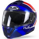 HJC I90 Hollen MC21 Casco Modular Azul Rojo Blanco 2XL