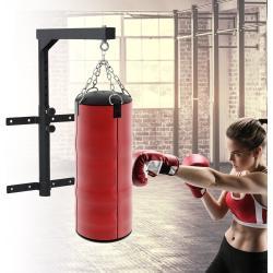 HomCom Soporte de Techo para Saco Regulable Colgador Boxeo Pared Carga máx. 100kg