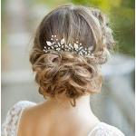 Horquillas Aukmla para bodas de novias y damas de honor en fiestas o casuales (paquete de 2)