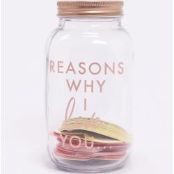 Jarra reasons why I love you de Ginger Ray Multicolor