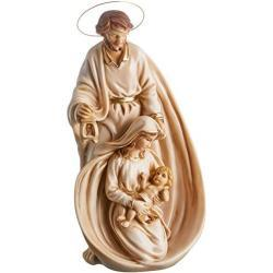 Joana Darque Estatua del Pesebre de la Sagrada Familia de San José con Candela, Marfinite, Blanco y Dorado, 32x13x13 cm