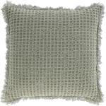 Kave Home - Funda cojín Shallow 100% algodón verde 45 x 45 cm