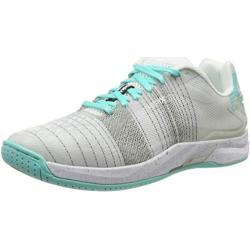 Kempa Attack One Women Contender, Zapatillas de Balonmano Unisex Adulto, Multicolor (blanco / turquesa 02), 38.5