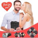 Kingso - Caja de regalo creativa Manual DIY Álbum de fotos Párrafo personalizado para regalo de cumpleaños Tanabata Regalo del día de San Valentín 12 12cm Negro A