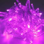Kingso - Con pilas 5m 50LED Lámpara centelleante Luces de guirnalda de hadas Fiesta de bodas Navidad Iluminación navideña con interruptor de encendido / apagado Rosa Rosa 5m