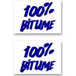 Kit Adhesivos Moto 2 Stickers 100% Bitume 14 x 11 Blue