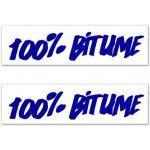 Kit Adhesivos Moto 2 Stickers 100% Bitume 14 x 3 Blue