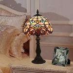 Lámpara de noche creativa de la moda retro E27 Tiffany dormitorio de la lámpara de mesa lámpara de mesa,enchufe para EE.UU,blanco cálido