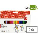 Lapices cera liderpapel caja de 24 colores
