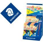 Lapices de colores staedtler wopex ecologico expositor de 20 cajas de 12 colores y 5 cajas de 24 colores