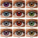 Lentillas de colores para Cosplay, lentillas de colores para Cosplay, azul, verde, multicolor,