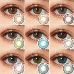Lentillas de colores para ojos, lentillas de contacto de 3 tonos, lentillas de contacto de Color sin