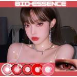 Lentillas de contacto con ojos de Color rojo para Cosplay, Lentillas suaves de Colores, Belleza