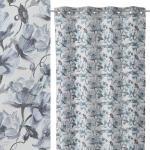 LOLA home Visillo de flores de Petunia azul de poliéster de 140x260 cm