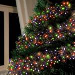 Luces de Navidad exterior Led energía solar batería larga duración panel 100 Led árbol balcón   Multicolor 3