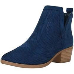 Zapatos azules de ante de charol informales infantiles