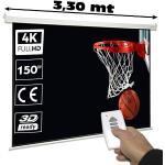 """Luxscreen Pantalla de proyección electrica 150"""" ( 2,98 x 2,20 metros )"""