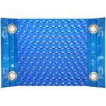 Manta Térmica (12x5m) (cobertor Térmico-Cubierta Isotérmica-Toldo Para Piscina) De 600 Micras Económica Con Refuerzo En Los Lados Estrechos + Ojales En Acero Inoxidable + Cubierta De Protección Para Cobertor Solar + Enrollador Telescópico De 81mm.