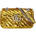 Minibolso de hombro con lentejuelas con GG Marmont