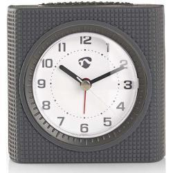 Nedis Reloj Despertador de Sobremesa Analógico | Luz | Gris NE550674453