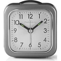 Nedis Reloj Despertador de Sobremesa Analógico | Luz | Gris NE550674454