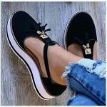 ONEYMM Sandalias de Vestir para Mujer Sandalias Cerradas con Base Gruesa y Plataforma para Caminar Cómodos Casual Zapatos de Playa Zapatos Plano Verano para Caminar,Negro,42