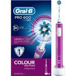 ORAL-B - Cepillo Eléctrico - Oral B PRO 600 CROSS ACTION MORADO Movimiento 3D, Indicador de batería